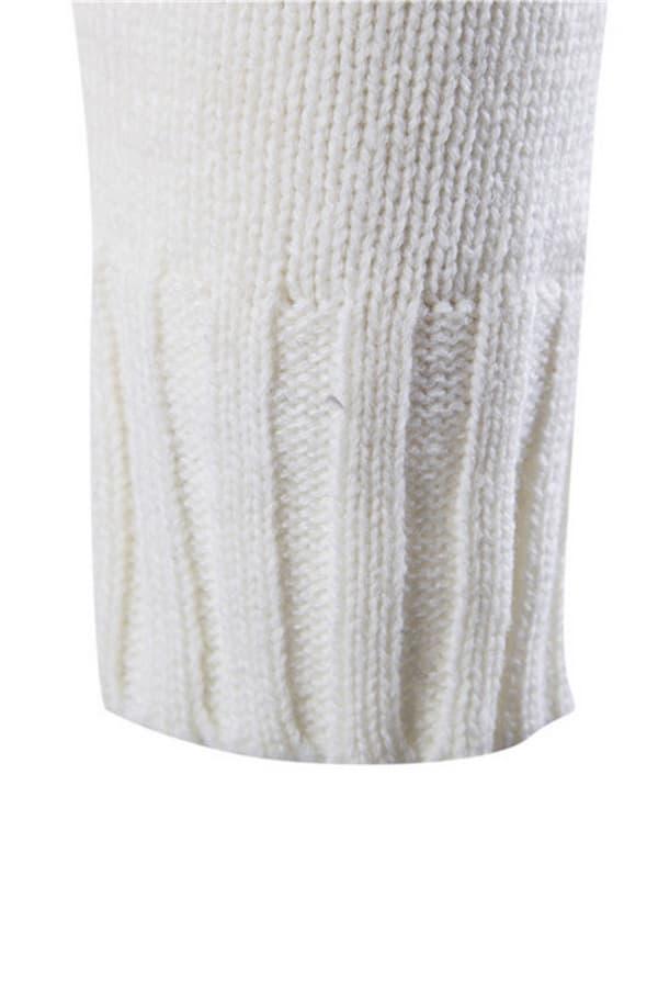 Gilet homme de Noël avec motifs flocons de neige - Blanc - détail manche