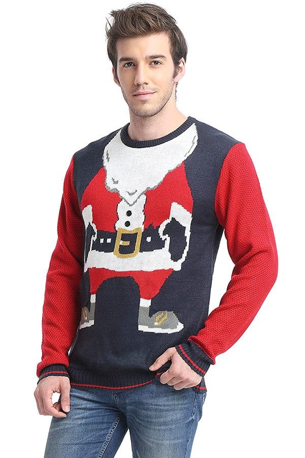 Pull Moche Père Noël - Vue de coté 2