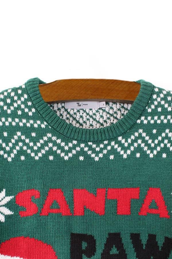 Pull moche de Noël chien bonnet - Détail 2