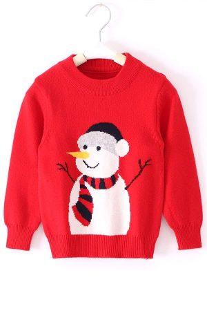Pull Noël Enfant Bonhomme de Neige