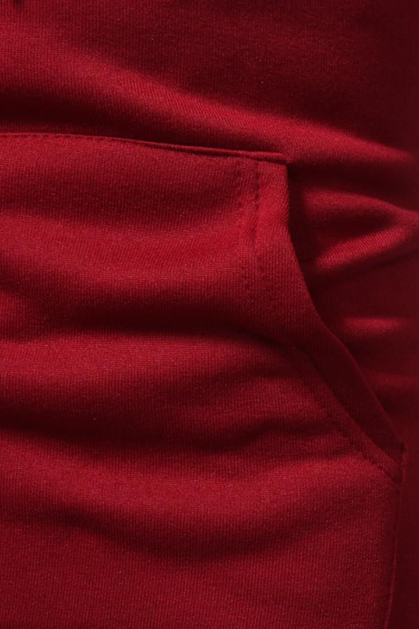 Sweat à capuche Rouge Renne avec Flocons - Détail Poche