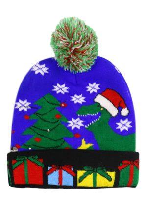 Bonnet de Noël Dinosaure