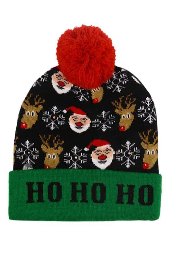 Bonnet de Noël Père Noël Oh oh oh