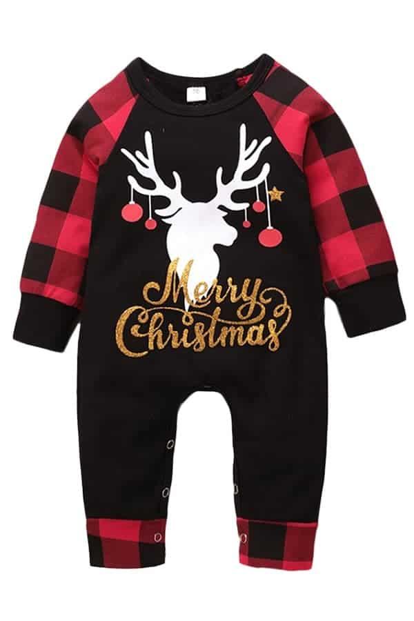 Grenouillère de Noël Bébé Merry Christmas